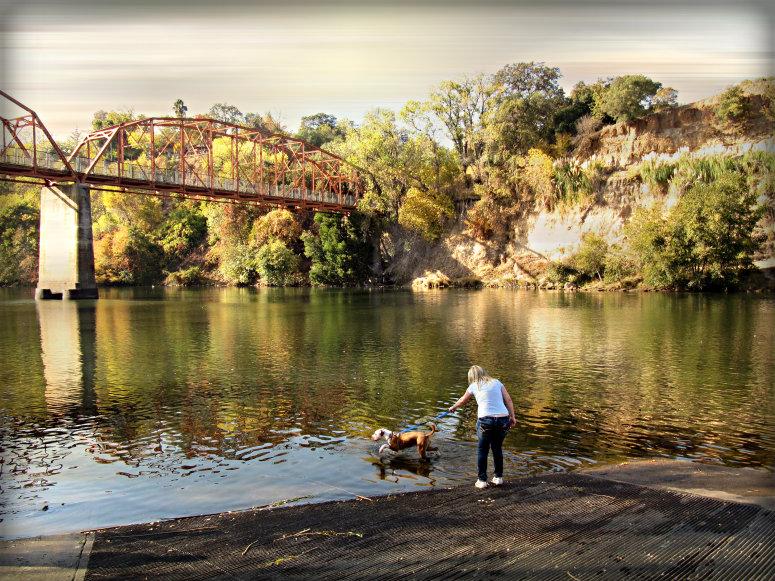 Old Fair Oaks Bridge Scene