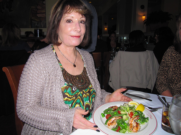 Elizabeth and her Salad of Grilled Prawns
