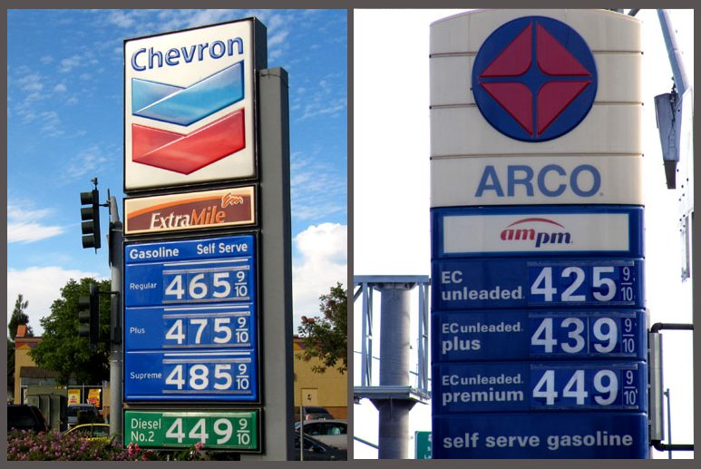 Gas Price Near Me >> What A Difference Opposite Corners At The Same Intersection Can Make