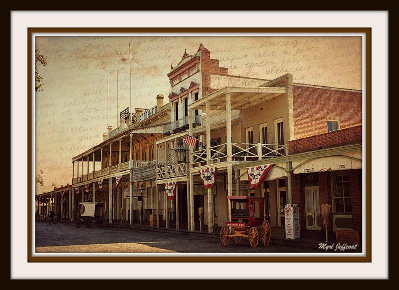 Old Sacramento by Myrl Jeffcoat